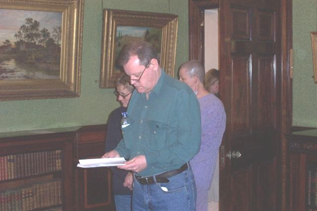 Robert Sheppard reading at Studley House