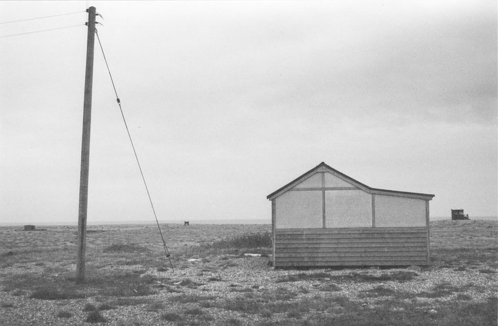 telegraph pole and hut