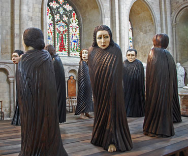 Ana Maria Pacheco, Shadows of the Wanderer, in Norwich Cathedral, July 2015